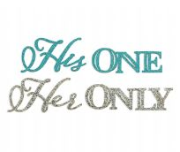 His One, Her Only Wedding Shoe Stickers